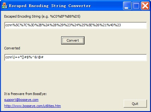 Click to view URL Escaped Encoding Decoder 1.0 screenshot